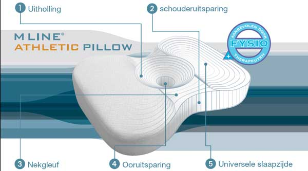 m line athletic pillow uitleg